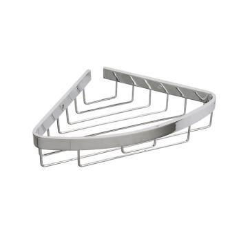 Croydex Aluminum Bathroom Chunky Corner Basket in Chrome QM775941YW