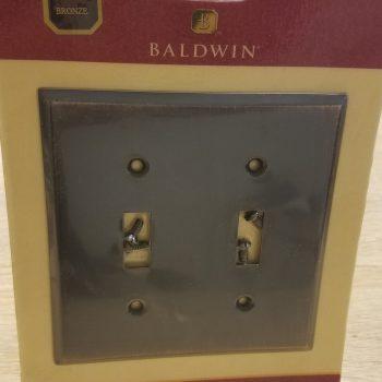 Baldwin Classic BeveledEdge Double Toggle Switch Plate Venetian Bronze(Lot of 2)