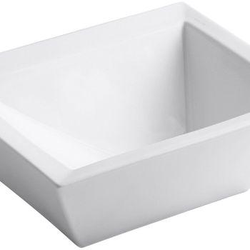 KOHLER Bateau Vessel Above-Counter Rectangular Bathroom Sink in White K-2273-0