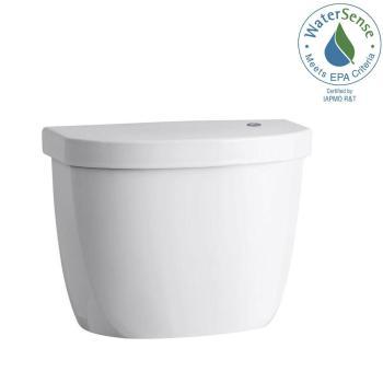KOHLER Cimarron Touchless 1.28 GPF Single Flush Toilet Tank Only White K-5692-0