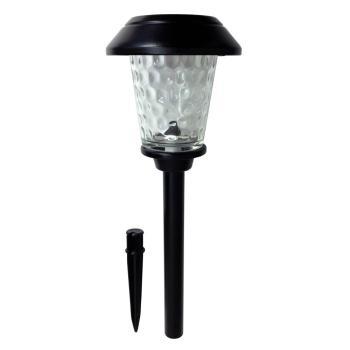 Hampton Bay Solar Black Metal Outdoor LED Path Light Dimple Glass Lens (6-Pack)