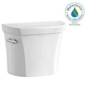 KOHLER Wellworth 1.28 GPF Toilet Tank Only w/Tank Liner/Locks White K-4467-UT-0