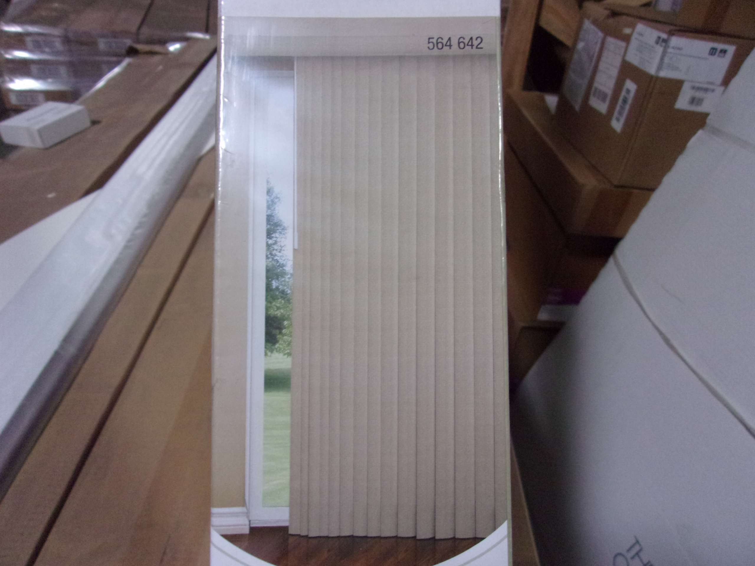 Designview 78 X 84 Mosaic 3 1 2 Vertical Blinds In Tan 564642