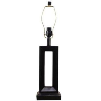 Hampton Bay 15777 Mix Match Dark walnut Finish Electric Decor Table Lamp