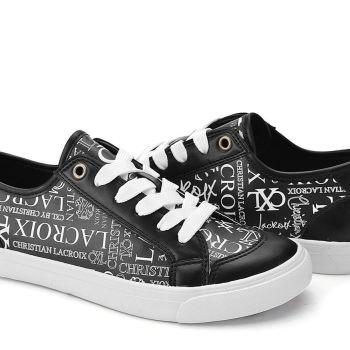 Christian Lacroix Women's Julietta Lace Up Graffiti Print Sneakers Size 7.5