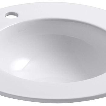 KOHLER K-2282-1-0 Camber Self-Rimming Bathroom Sink in White