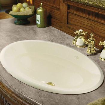 KOHLER K-2264-47 Centerpiece Self-Rimming Bathroom Sink in Almond