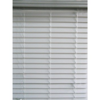 Allen + Roth 2.5-in Cordless White Faux Wood Blinds 32W x 64L 32″ x 64″
