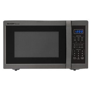Sharp 1.4-cu ft 1100-Watt Countertop Microwave (Black Stainless Steel) SMC1452CH