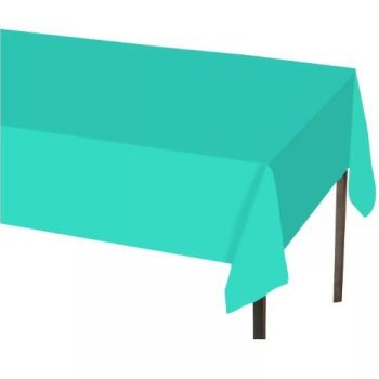 6-Pack Spritz Solid Tablecovers 54″ x 108″ Turquoise Blue