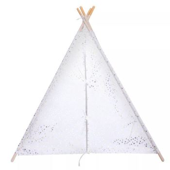Pillowfort Teepee Gold Foil Star Childrens Play Fort