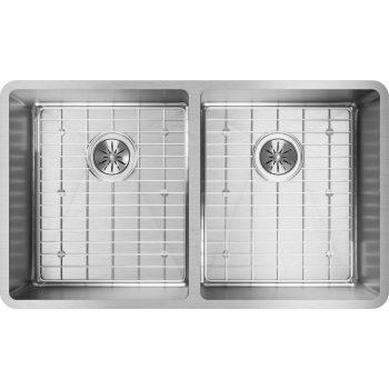 Elkay Crosstown Equal 2-Bowl Undermount Stainless Kitchen Sink Kit ECTRU31179DBG