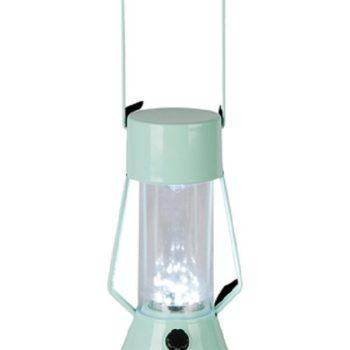 Room Essentials LED Outdoor Metal Lantern in Green Edge