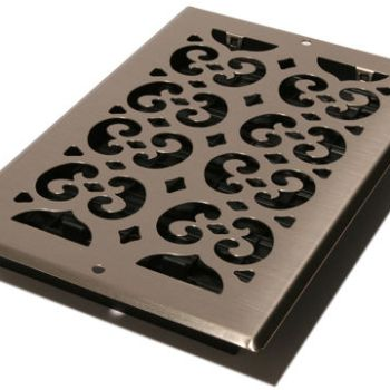 Decor Grates SP612W-NKL Wall and Ceiling Register 6-Inch by 12-Inch Nickel