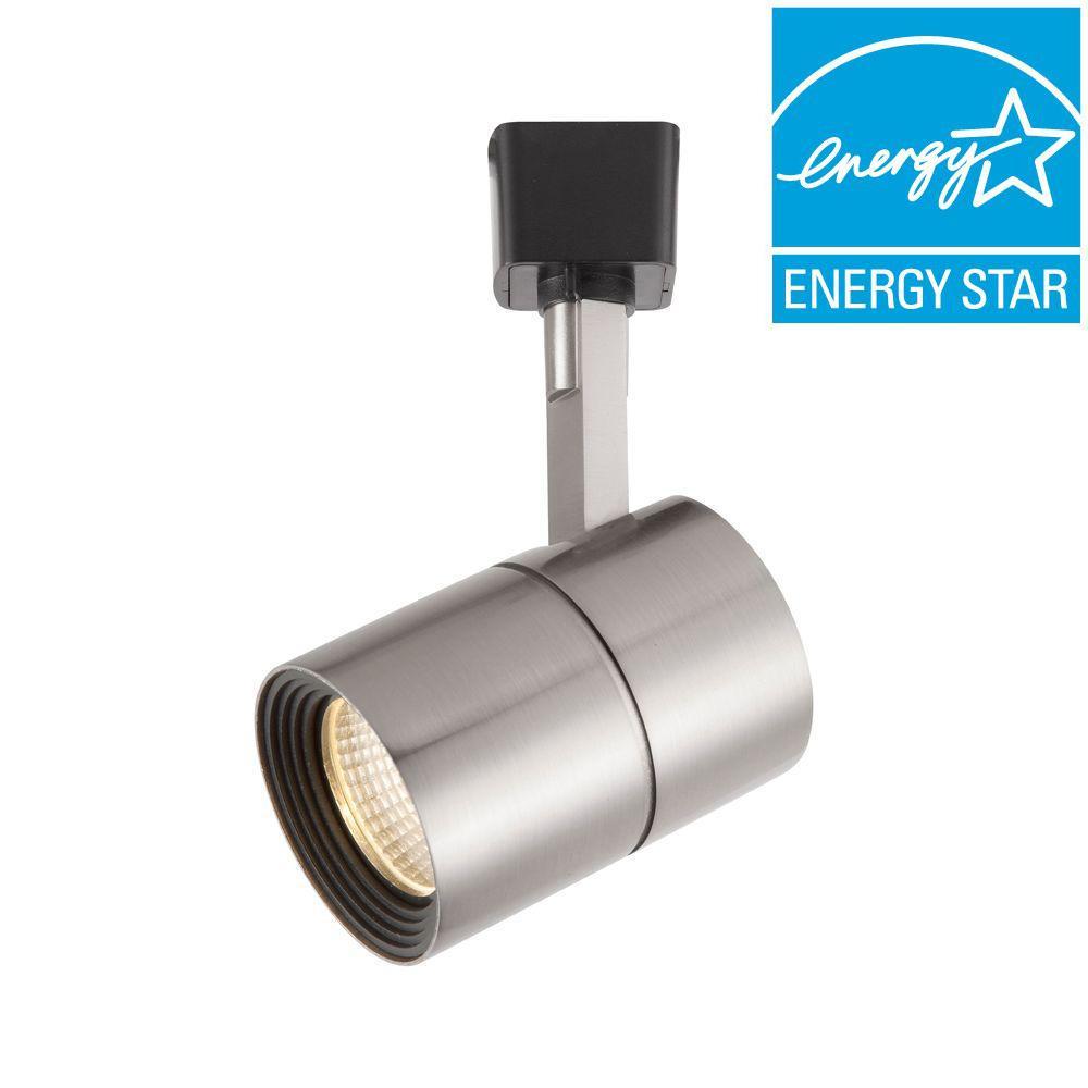 Hampton Bay Light White Dimmable LED Track Lighting Head Energy Saving Hardwired