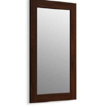 KOHLER Poplin 35.5-in 20.5-in Ramie Walnut Rectangular Bathroom Mirror 99666-1WD