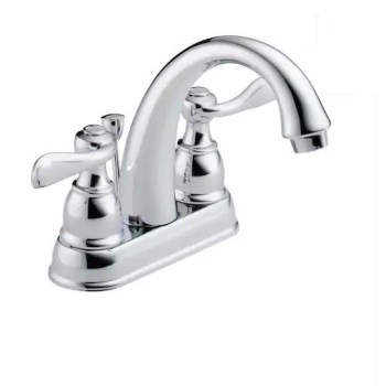 Delta Windemere Chrome 2-Handle 4-in Centerset Bathroom Sink Faucet 25996LF-ECO