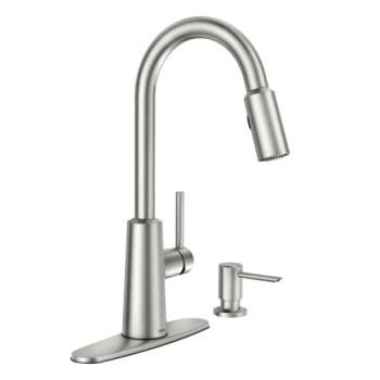Moen Nori Spot Resist Stainless One-Handle High Arc Pulldown Kitchen Faucet