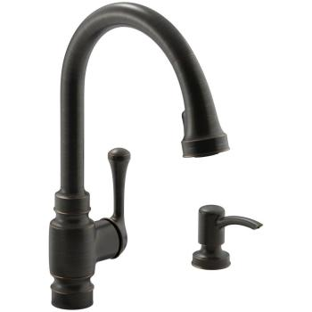 KOHLER Carmichael 1-Handle Pull-Down Sprayer Kitchen Faucet in Oil Rubbed Bronze