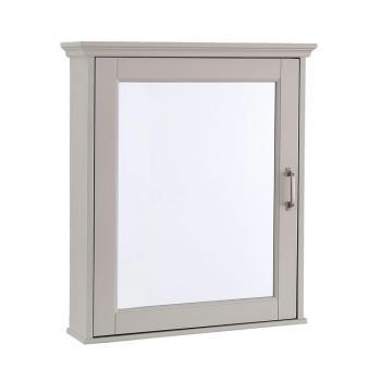Foremost Ashburn D-Framed Wood Surface-Mount Bathroom Medicine Cabinet in Grey