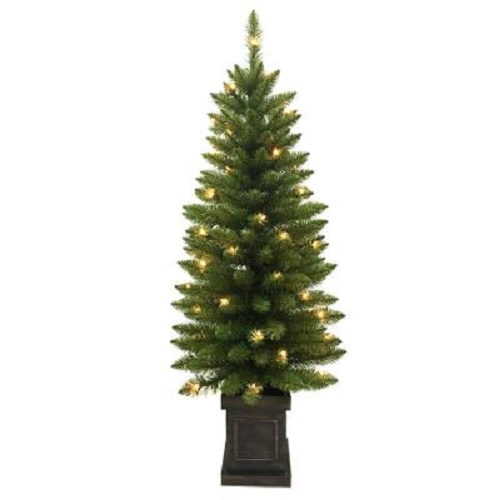 NEW HOME ACCENT HOLIDAY 4ft. Pre-Lit Artificial Christmas Porch Tree 1003213231