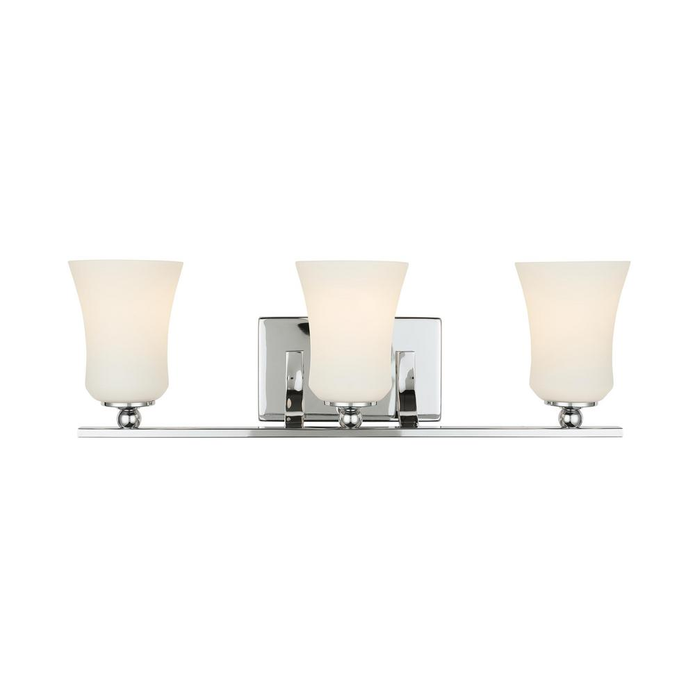 Home Decorators Collection 3 Light Chrome Square Bath Vanity Light 15333