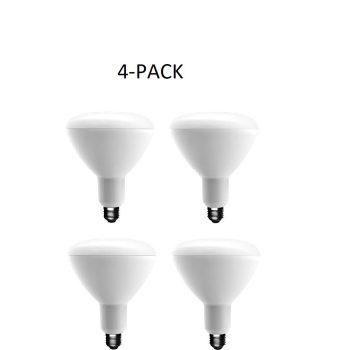 4PACK EcoSmart 90-Watt Equivalent BR40 Dimmable Light Bulb Soft White 1003025102