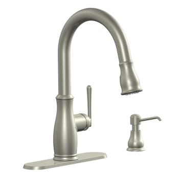 Glacier Bay Kagan Single-Handle Pull-Down Kitchen Faucet Stainless FP1B4201SP
