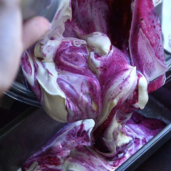 blueberry swirl key lime ice cream