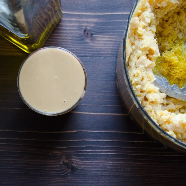 hummus with basil-cilantro oil