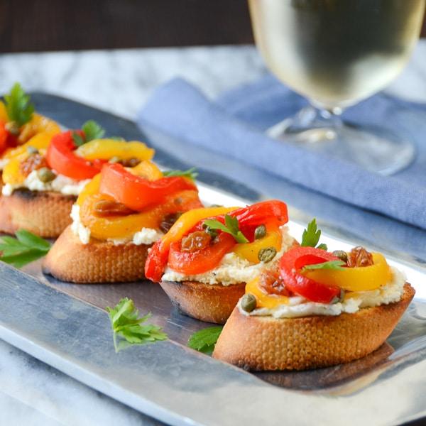 pepperonata bruschetta | Garlic + Zest