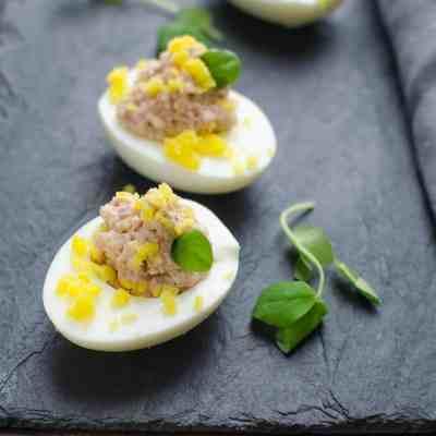 Deviled Ham Stuffed Eggs