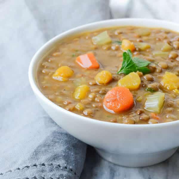 hearty lentil butternut soup   Garlic + Zest