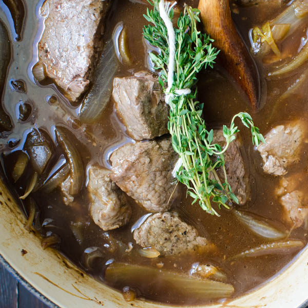 Extra Stout Beef Carbonnade | Garlic + Zest