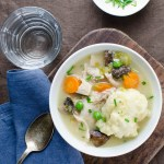 Chicken n' Cornmeal Chive Dumplings | Garlic + Zest
