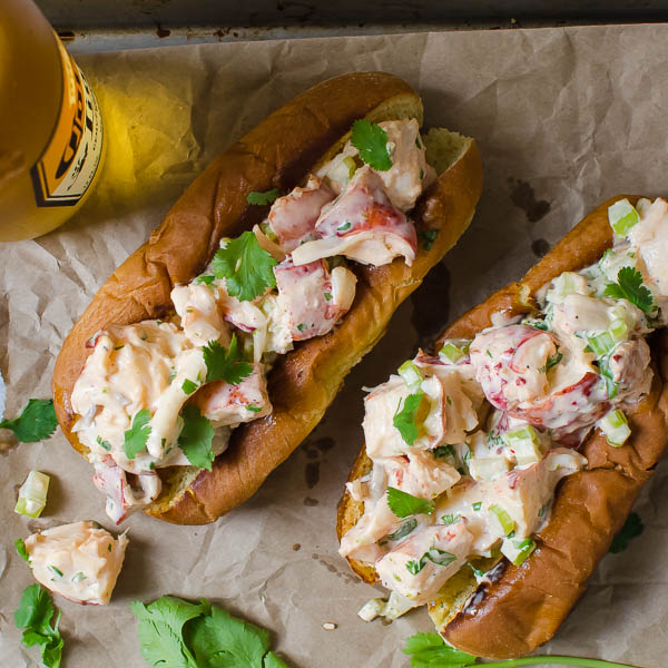 Sriracha Lobster Rolls | Garlic + Zest