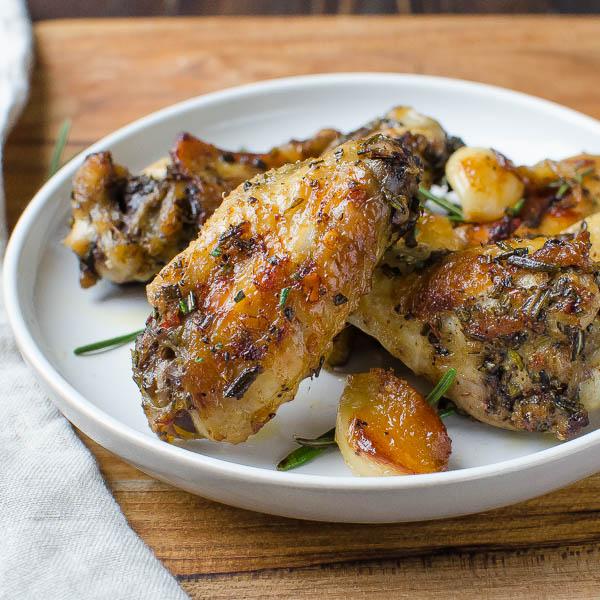 Rosemary Garlic Chicken Wings   Garlic & Zest