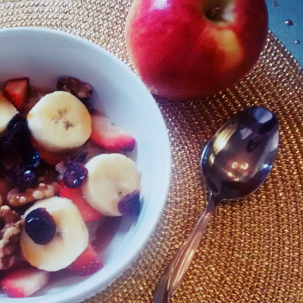 morning oatmeal bowl