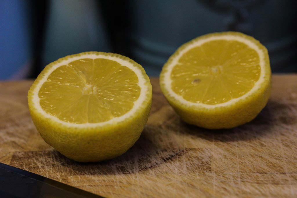 Slice your lemons for Guilt Free Vegan Alfredo Pasta