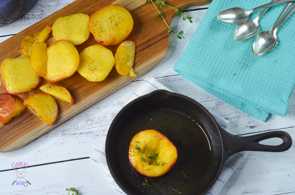 Grilled Peaches with Honey and Thyme