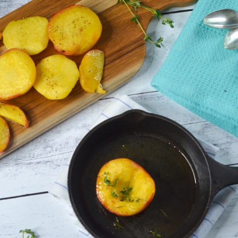 grilled honey thyme peaches