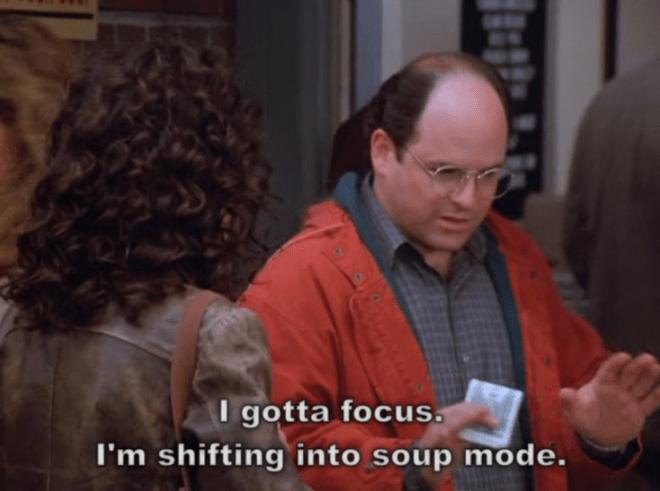 George Costanza soup mode soup nazi episode
