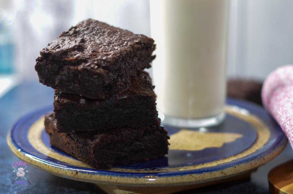 milk and brownies