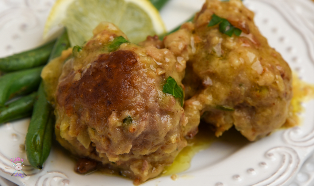 lemon turkey meatballs