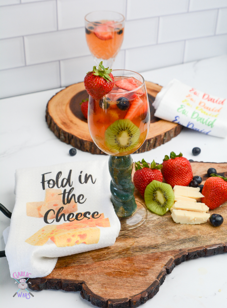 summer sangria wine and cheese
