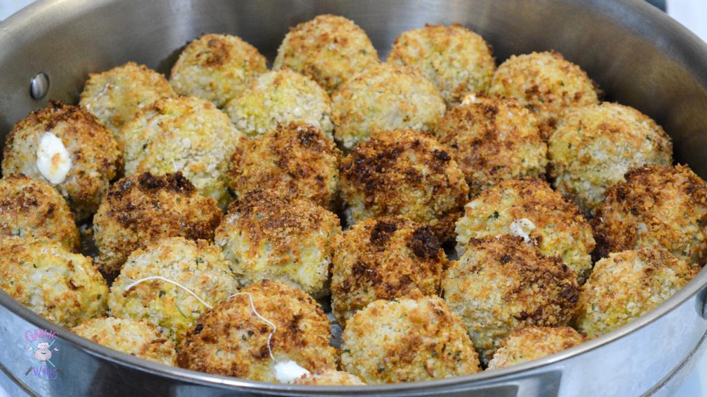 air fryer chicken parmesan meatballs