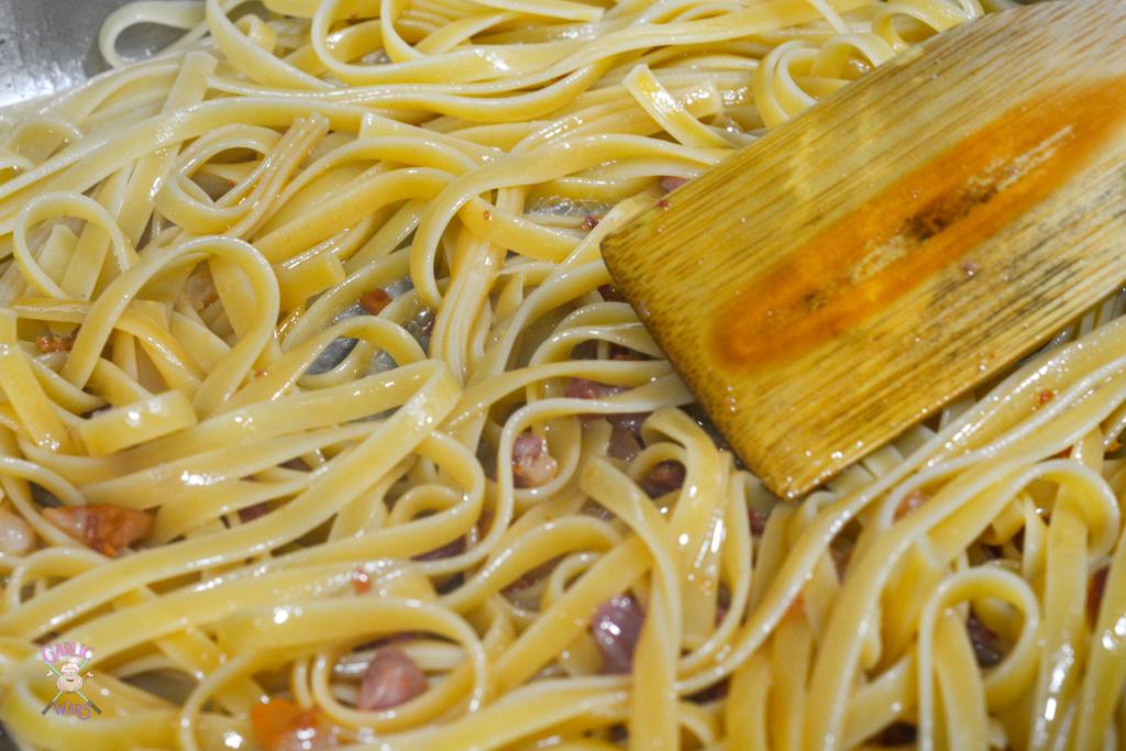pasta in pan