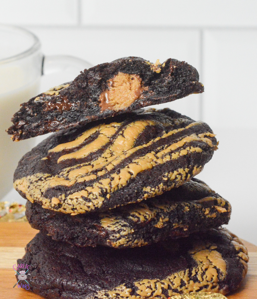 Reese's Stuffed Double Chocolate Cookies