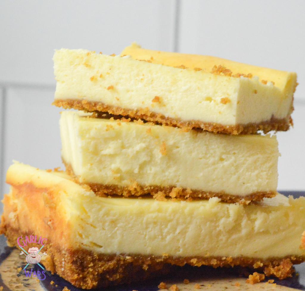 stack of cheesecake bars