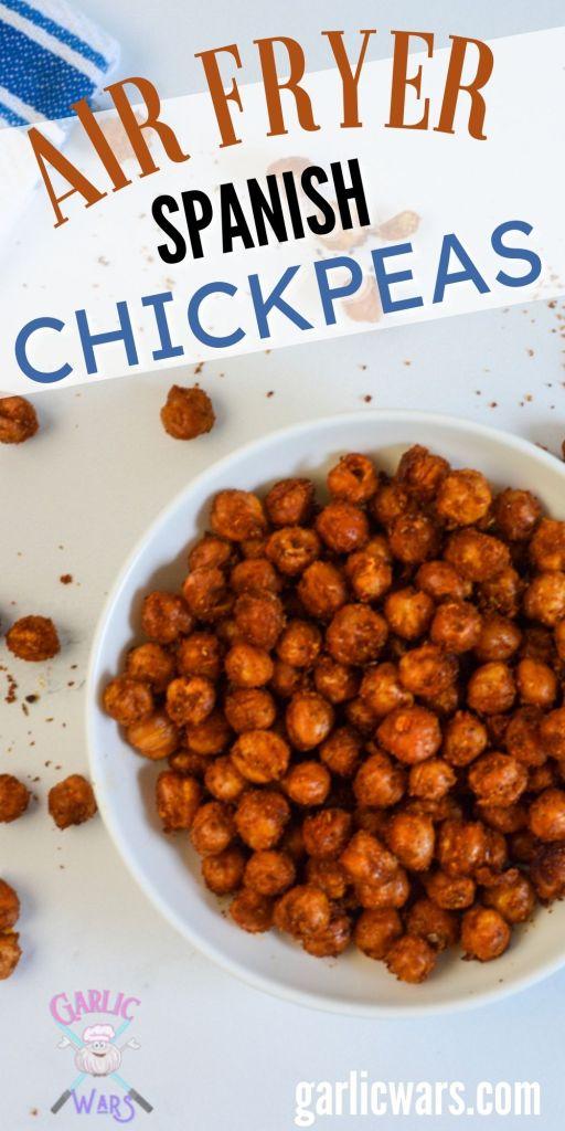 air fryer spanish chickpeas for pinterest